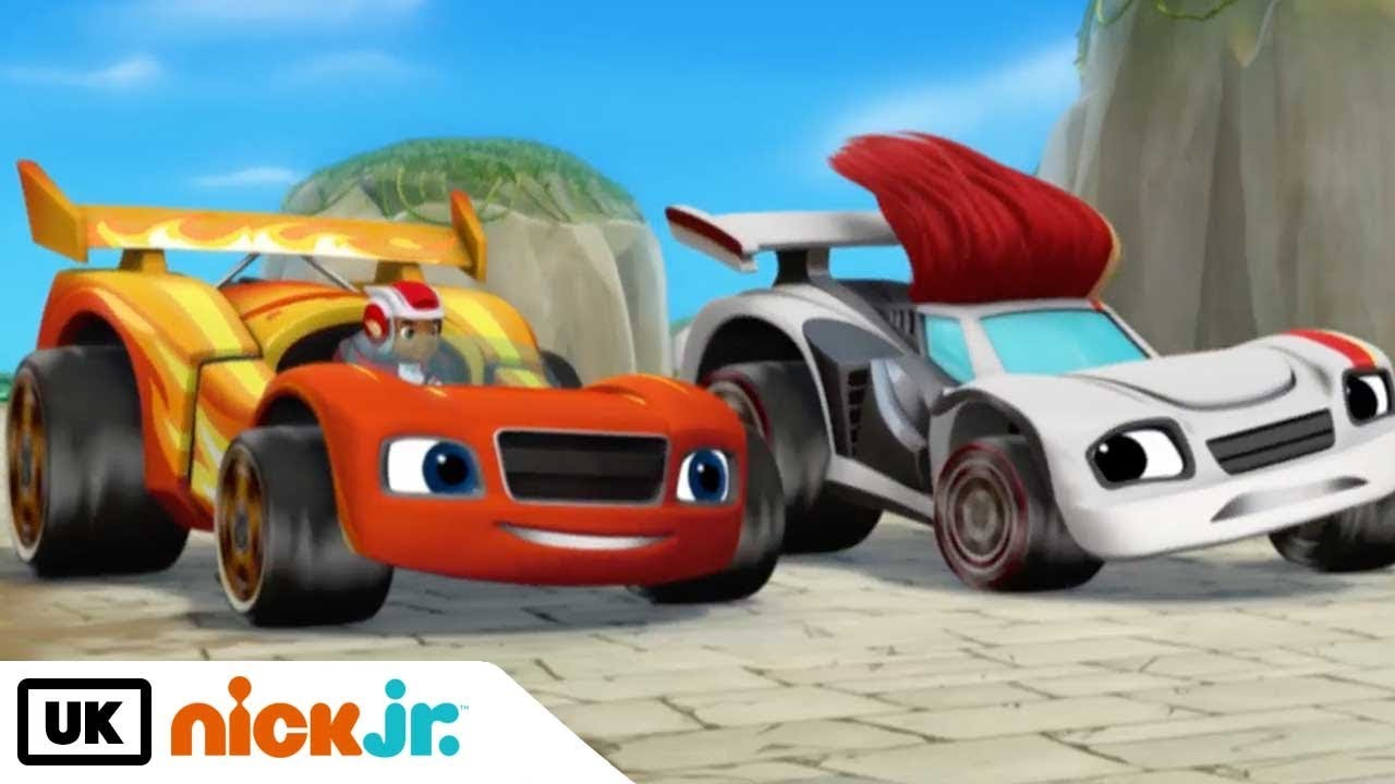 Blaze and the monster machines race car superstar nick for Blaze e le mega macchine youtube