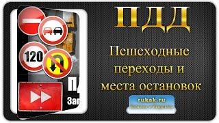 видео ПДД РФ Пешеходные переходы и места остановок маршрутных транспортных средств