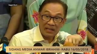 Download Video Sidang media Anwar Ibrahim - Rabu 16/05/2018 MP3 3GP MP4