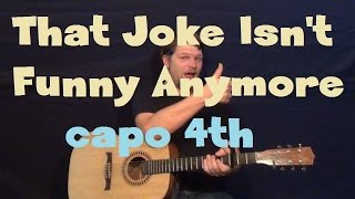 That Joke Isn't Funny Anymore (The Smiths) Guitar Lesson How to Play Tutorial Capo 4th Fret