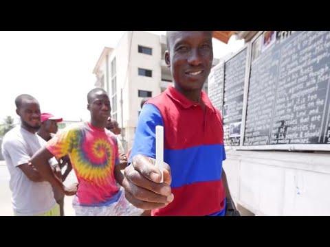 Delivering the news in Liberia via chalk