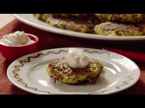 How to Make Vegetable and Feta Latkes | Potato Recipes | Allrecipes.com