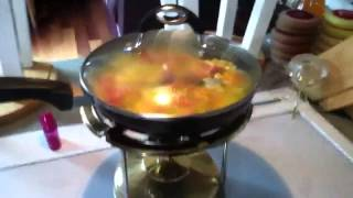 Scrambled Eggs Cooked On A Camping Stove