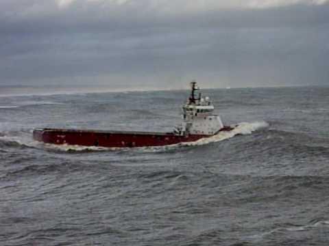 Aberdeen harbour waves