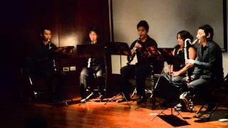 """Ensamble de clarinetes """"Paáx utiaál iik´"""" Petit Quatour pour saxophones--- Jean Francaix"""