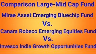 कौन सा रहेगा बेहतर ? Top 3 Large - Mid Cap Mutual Fund Comparison