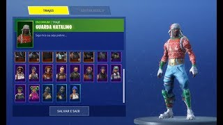 SHOWING FORTNITE ACCOUNT WITH BLACK KNIGHT AND CHRISTMAS SKINS * CHANGE *