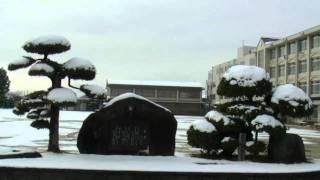 2011.2.11 雪の河南中学校