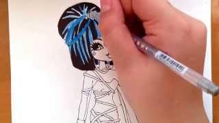 Как рисовать монстр хай Клео де Нил sweet 1600(Пишите свои пожелания кого нарисовать. P.S Я могу нарисовать не только монстр хай., 2014-03-31T06:54:57.000Z)