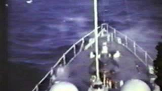 USS Barney DDG 6 Destroyer in heavy seas off Vietnam in 1967