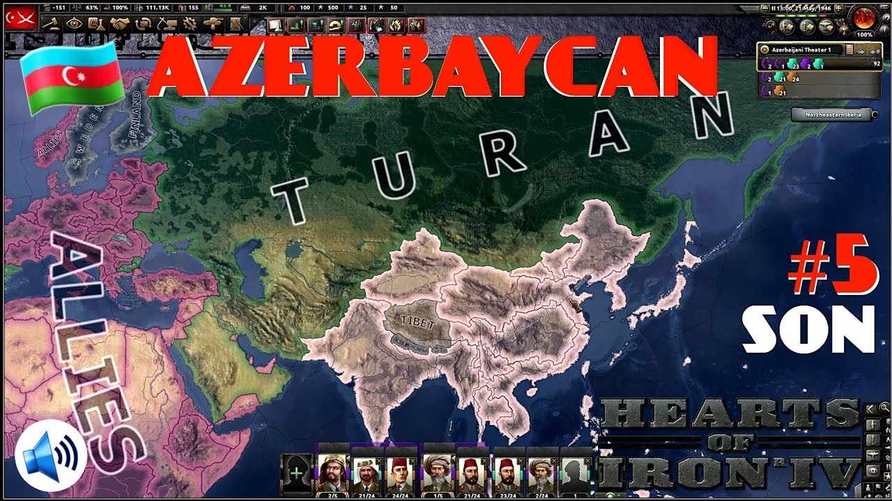 AZERBAYCAN #5 SON | HEARTS OF IRON 4 | IRONMAN ANLATIMLI TURAN