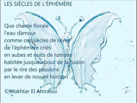 Mokhtar El Amraoui Lisant Son Poème Les Siècles De Léphémère