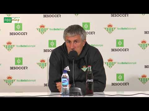 Rueda de prensa de Quique Setién previa al partido contra el Atlético de Madrid