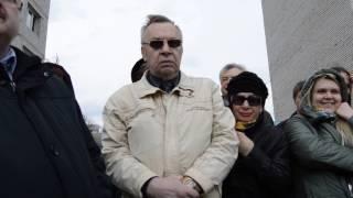 Обманутые дольщики Липецка снова вышли к недостроенным домам