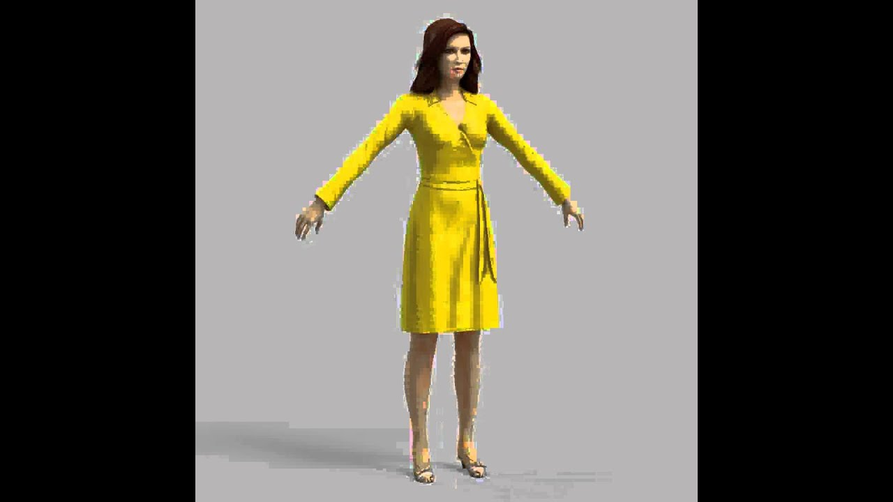 3d model of blond woman in dress review youtube for Configurateur dressing 3d