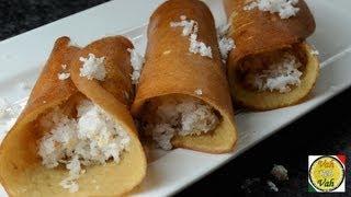 Sweet  Dosa With Flour - By Vahchef @ Vahrehvah.com
