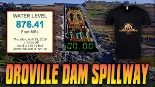 OROVILLE DAM UPDATE: April 25th, 2019 (Water Level @ 876.41)