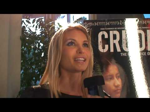 Sonia Rockwell ed by Ken Spector at the CRUDE premiere