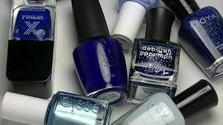 OPEN ME!!!!!! My Favorite Blue Nail Polishes of All Time + Bloopers...
