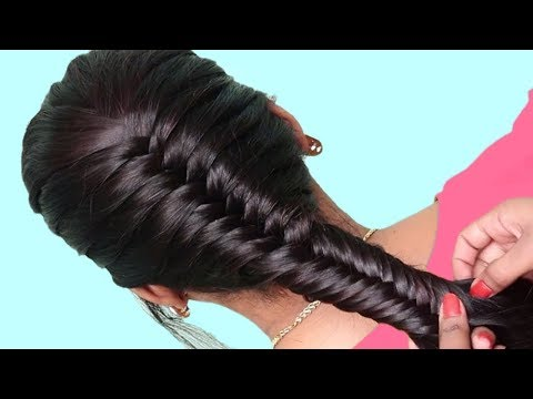 easy french braid juda hairstyle for party/wedding | simple hairstyles | Beautiful hairstyles thumbnail