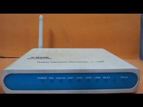NOKIA SIEMENS NETWORKS WIFI modem configuration