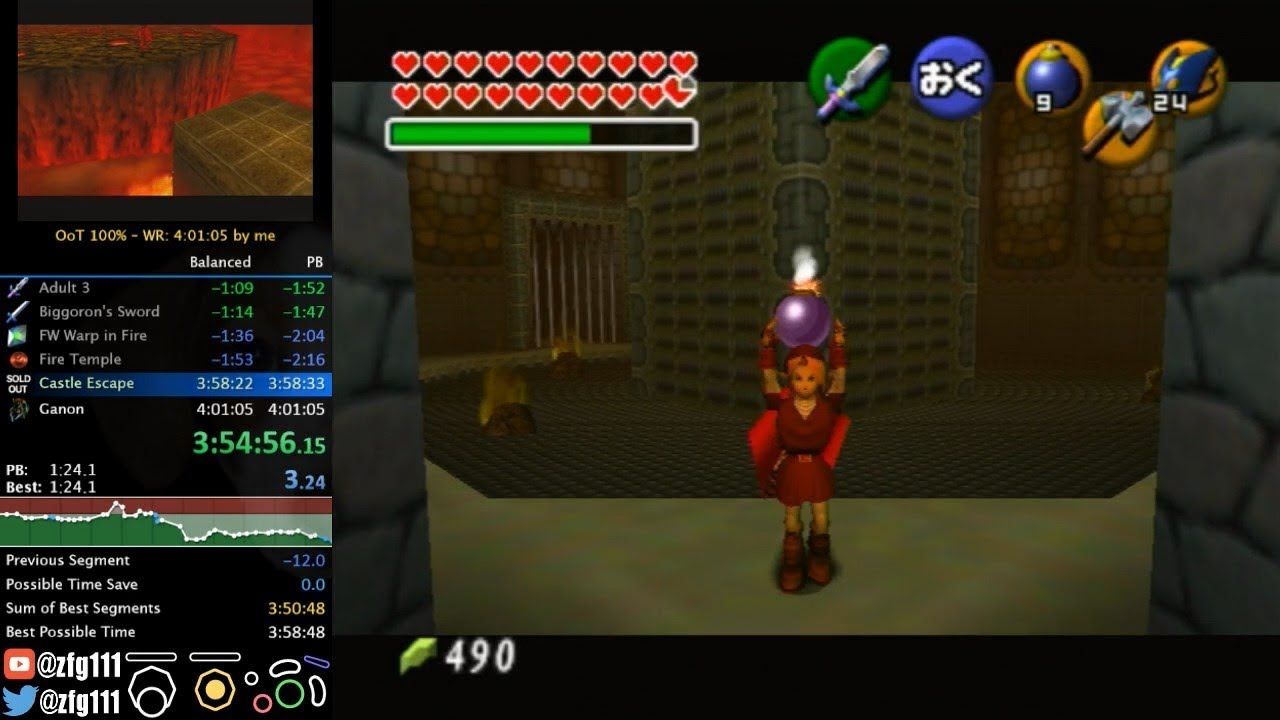 Ocarina of Time speedrunner breaks four-hour barrier for a 100% run