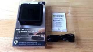 Trident Qi Power Base 6000 Electra Series Battery Unboxing 7-9-15