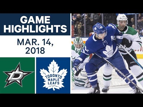 NHL Game Highlights | Stars vs. Maple Leafs - Mar. 14, 2018