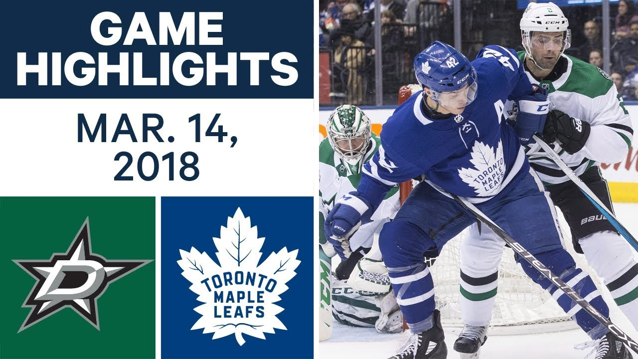 Nhl Game Highlights Stars Vs Maple Leafs Mar 14