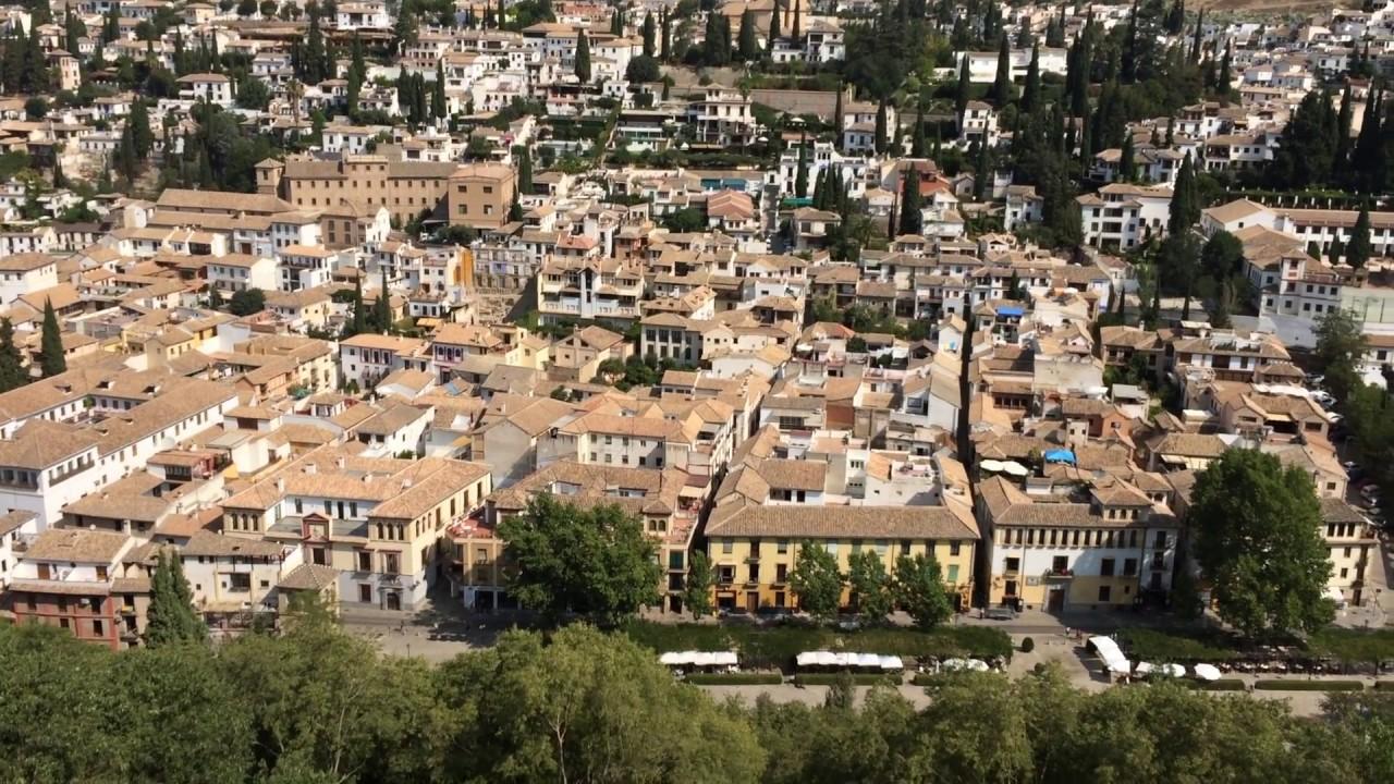 Gypsy Area From Alhambra Palace Gardens, Granada, Spain #granada ...