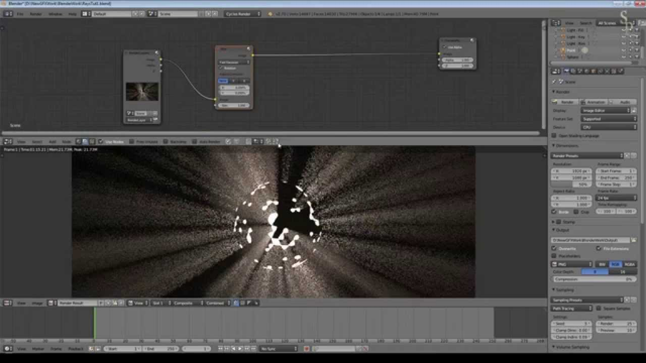 Blender 2.70 Tutorial - Cycles Light Rays (Volumetrics) - YouTube