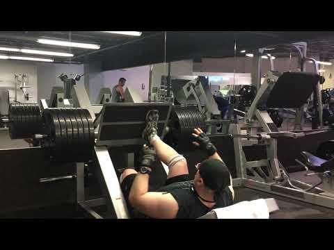 gym training leg press