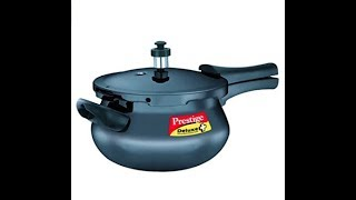 Unboxing Prestige Deluxe Plus Mini Induction Base Hard Anodized Pressure Handis, 3.3 Litres, Black