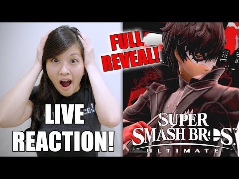 LIVE REACTION [Joker Full Reveal!] Super Smash Bros. Ultimate