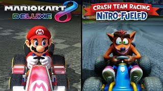 Crash Team Racing: Nitro Fueled vs Mario Kart 8 | Direct Comparison