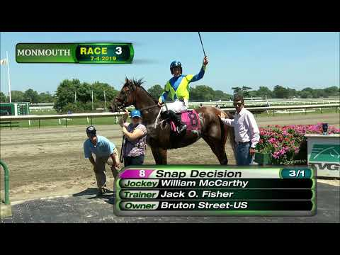 video thumbnail for MONMOUTH PARK 7-4-19 RACE 3