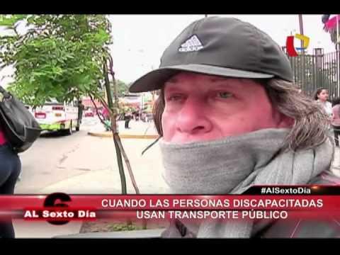 ¿Qué Pasa Cuando Las Personas Discapacitadas Usan El Transporte Público En Lima?