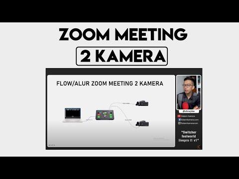 Tutorial Zoom Meeting 2 Kamera Pake Switcher Feelworld LivePro L1 V1 Lengkap dan Mudah