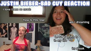 Billie Eilish- bad guy ft. Justin Bieber REACTION