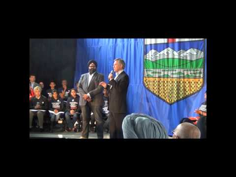 Taradale rally with Jim Prentice and Manmeet Bhullar