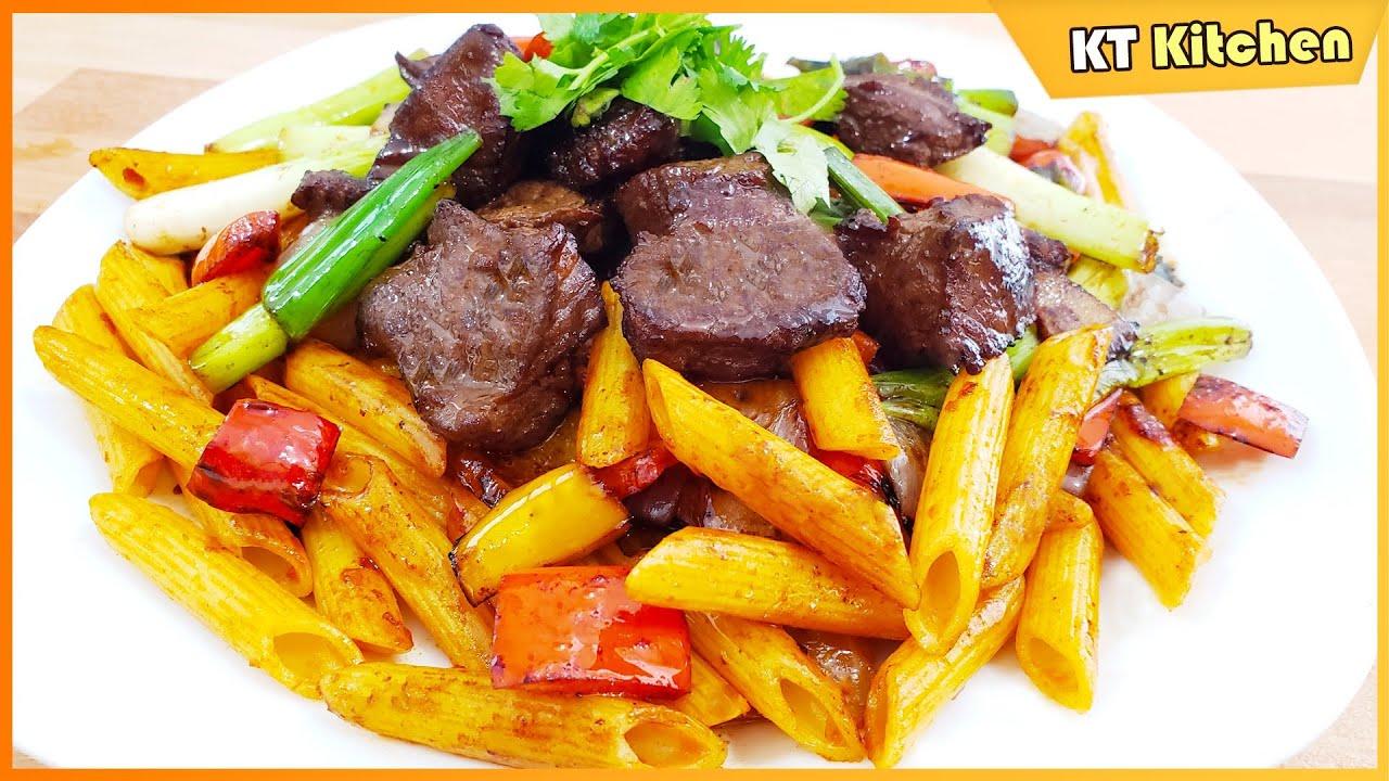 BÒ LÚC LẮC XÀO NUI – Bí Quyết Nhà Hàng || Shaking Beef Pasta Restaurant Style | ENGLISH CAPTION
