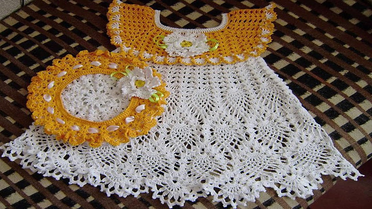 bb447f2dc Vestidos de BEBE Tejidos en Crochet o Ganchillo Parte 3 ( imagenex ) -  YouTube
