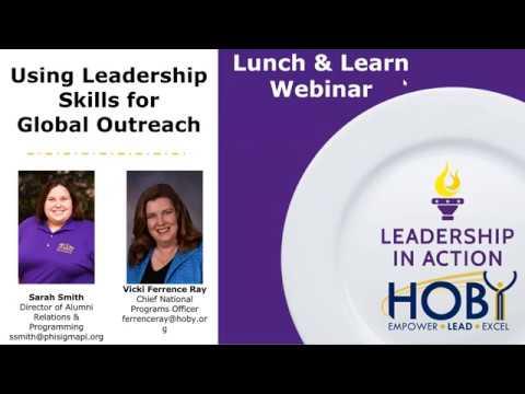 Lunch & Learn Webinar - Using Leadership Skills for Global Outreach