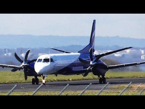 Eastern Airways   G-CERY   Saab 2000 at Liverpool Airport   26/03/2018   Arrival & Departure