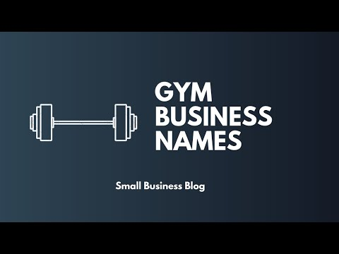Catchy Gym Business Names