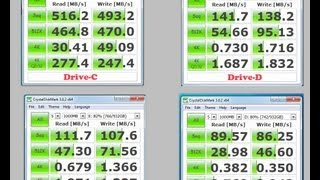 SSD vs HDD drive speed comparisons