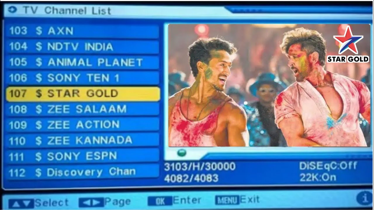 Star Gold HD Free To Air added on DD Free Dish