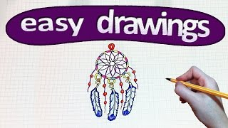 Easy drawings #207  How to draw a  Dreamcatcher