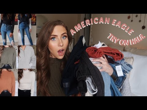 AMERICAN EAGLE WINTER TRY ON HAUL | JEANS, SWEATERS & MORE!