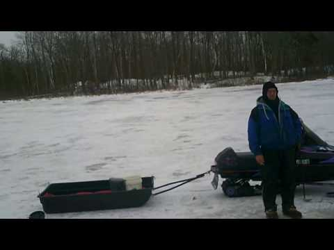 snowmobiles and ice fishing